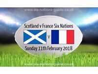 Scotland v France Six Nations Today four tickets