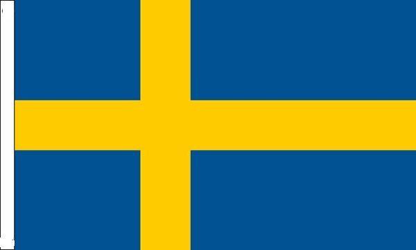 Sweden Sleeved Flag suitable for Boats 45cm x 30cm