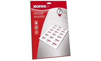Kores Universal Etiketten weiß 105 x 148 mm 25 Blatt 100 Etiketten Labels Druck