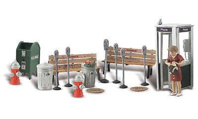 Painted O scale Street Accessories Woodland Scenics A2764