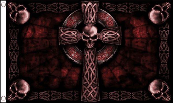 Cross Skull 5'x3' Pirate Flag