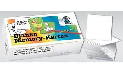 URSUS Blanko Memory Karten zum Selbstgestalten 60 weiße unbedruckte Karten 6x6cm