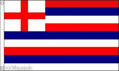 16th Century Red Blue and White Striped Ensign 5'x3' Flag