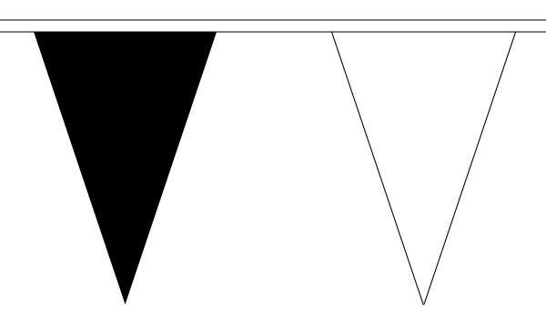 Details Zu Schwarz Und Weiß Dreieck Flagge Fahne 27 Auf Dieser 10 Meter Lang Fahnentuch