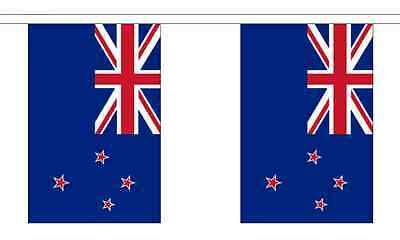 New Zealand Flag Bunting - 3m 6m 9m Metre Length 10 20 30 Flags - Polyester