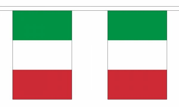 Italy Flag Bunting - 3m 6m 9m Metre Length 10 20 30 Flags - Polyester