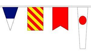 12.7 Metres 40 Flag Nautical Marine Signal Code Alphabet Boat Bunting Flags
