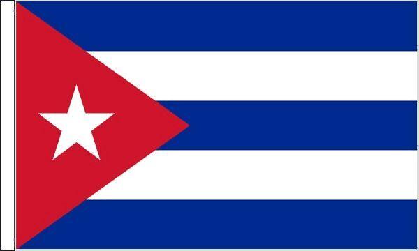 Cuba Sleeved Flag suitable for Boats 45cm x 30cm