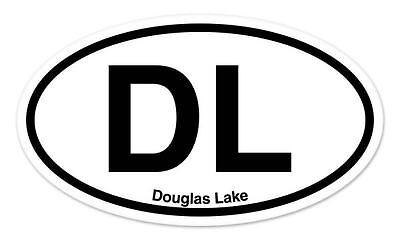 Dl Douglas Lake Oval Car Window Bumper Sticker Decal 5  X 3