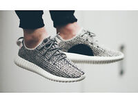 BRAND NEW BOXED - Mens Adidas Yeezy 350 Boost Trainers - TURTLE DOVE BLACK/GREY - SIZE UK 9.5 10.5