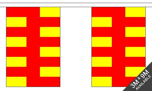 Northumberland British County 9 metre long 30 flag bunting
