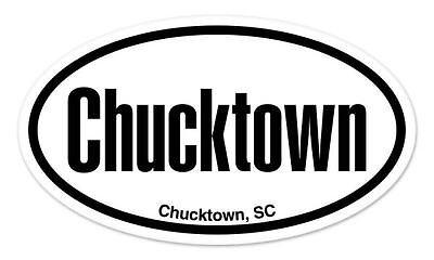 Chucktown SC South Carolina Oval car window bumper sticker decal 5