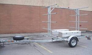8 Place Canoe/16 Kayak Trailer with OPTIONAL storage boxes