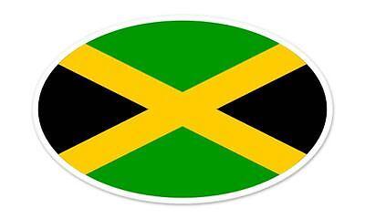 Jamaica Flag Oval car window bumper sticker decal 5