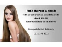Free haircut & finish with any colour service