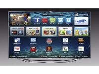 "Samsung 55"" ES8000 LED Full 3D HD Smart TV VOice and motion control New"