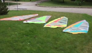 Windsurfing boards and sails.