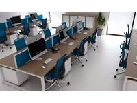 40 - CALL CENTRE BENCH DESKS- WALNUT BRAND NEW INCREDIBLE PRICE - SCREENS AVAILABLE