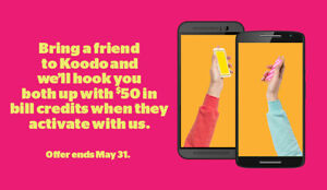 Koodo - $50 Bill Credit When Switching Or Activating A New Line!