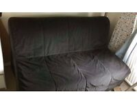 IKEA double sofa bed LYCKSELE with black cover