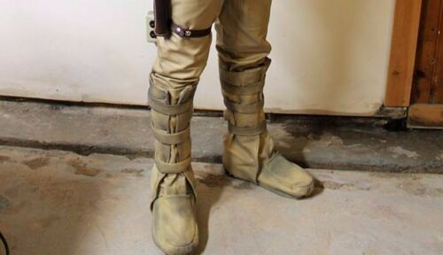 """Bespin Boots"" costume shoe covers that Luke wore on Dagobah ""dirtied up design"""