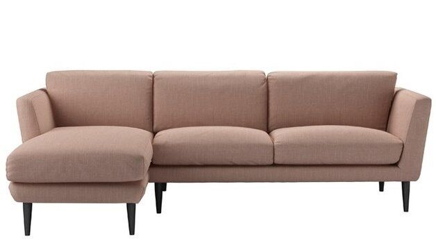L Shaped Holly Sofa From Com In Blush Belgian Linen