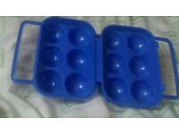 Plastic egg boxes 6 brand new