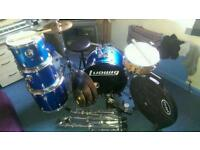 Ludwig drum kit with Mapex MPX snare
