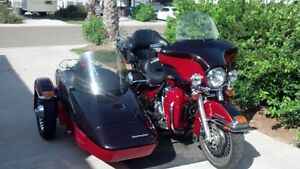 2010 HD Ultra Classic Ltd with sidecar