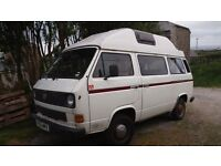 VW Camper T3 / T25 Autosleeper conversion with high top roof