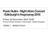 Paolo nutini concert tickets 30th December 2016
