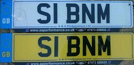 Private Number Plate S1BNM