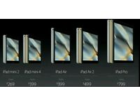 I want to buy all ipads any size any colour