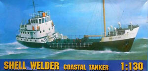 SHELL WELDER - BRITISH COASTAL OIL TANKER 1/130 GOMIX (ex FROG)  EXTREMELY RARE!