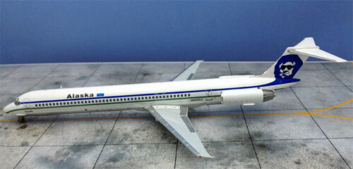 Jet-X VL002B Alaska Airlines MD-83 Sun Glasses N933AS Diecast 1/200 Jet Model