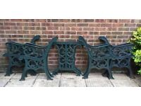 Cast iron bench ends and table ends furniture set