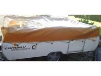 Conway folding camper / trailer tent WATERPROOF COVER - Pennine, Raclet etc