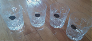 Hand Cut 4 old fashion 28cl - 9&3/4oz Whiskey Glasses
