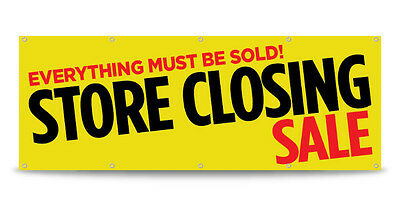 Store Closing Sale Banner Sign Going Out Of Business Vinyl - Free Custom Text