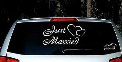 Just Married Vinyl Car Decal Sticker Custom Personalized Wedding Decor Sign  (Custom Decorations)