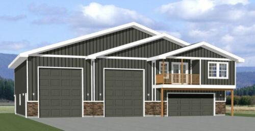 60x50 Apartment with 2-Car 2-RV Garage - PDF FloorPlan - 1,703 sqft - Model 1F