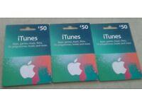 iTunes Vouchers x 3 £50