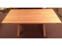 NEW IN BOX Solid Pine 6 Ft Dining Table Farmhouse Refectory Style Cross Legged 180cm