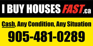 I BUY HOUSES FAST,CASH!! ANY CONDITION, ANY SITUATION!!
