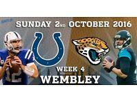 2 x Colts vs Jaguars NFL Wembley Tickets - **Front Row** Block 541 - £50 each