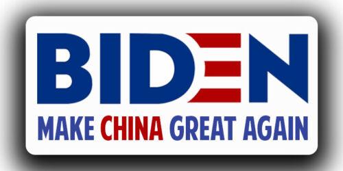 "Joe Biden ""Make China Great Again"" Sticker Decal 6"" x 3"""