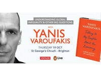Selling two tickets to see Yanis Varoufakis in Brighton