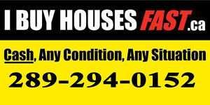 CASH, I BUY HOUSES FAST!! ANY CONDITION, ANY SITUATION!!