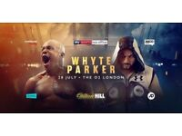 Whyte Vs Parker Boxing x 6