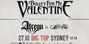 Bullet For My Valentine Australian Tour w/ Atreyu & Cane Hill Ashbury Canterbury Area Preview